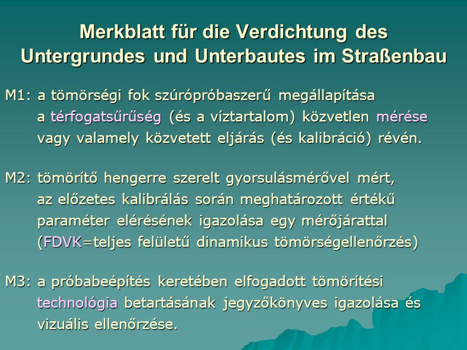 Merkblatt für die Verdichtung des Untergrundes und Unterbautes im Straßenbau