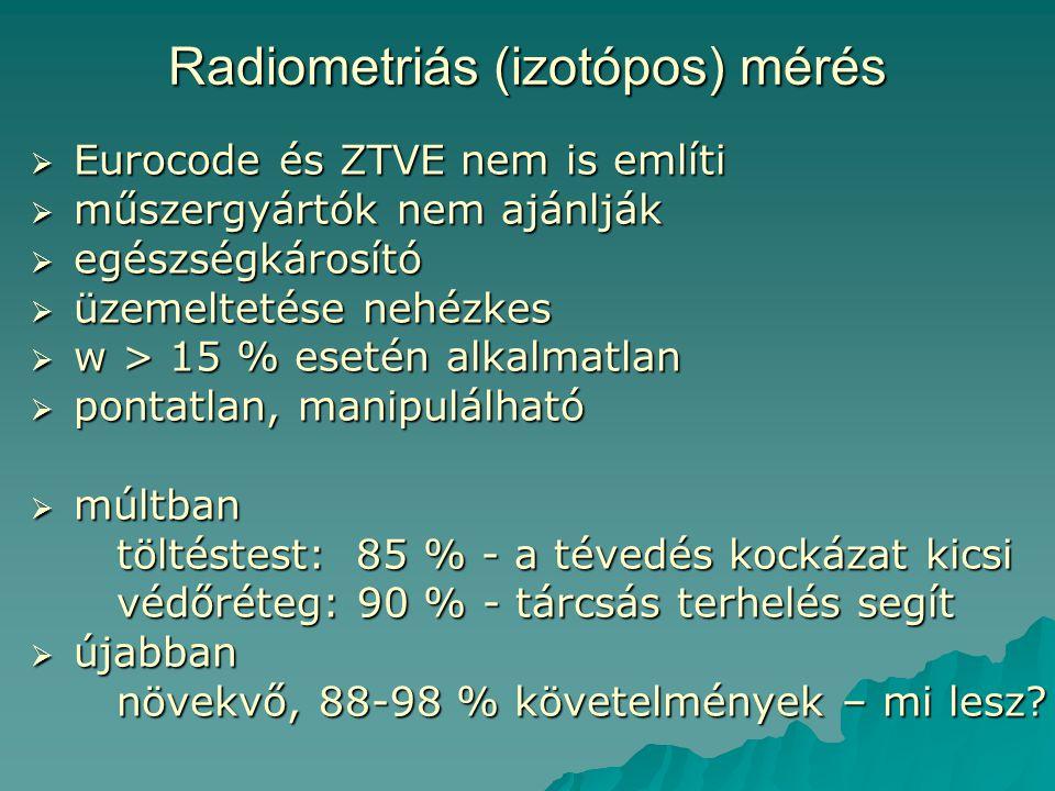 Radiometriás (izotópos) mérés