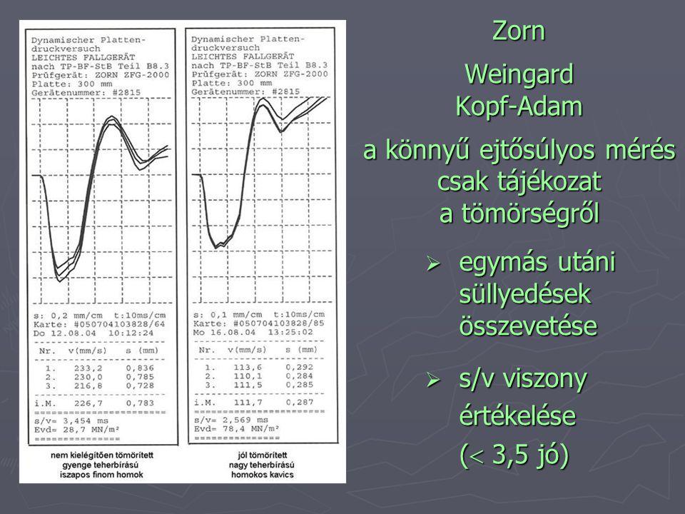 Zorn Weingard Kopf-Adam a könnyű ejtősúlyos mérés csak tájékozat a tömörségről