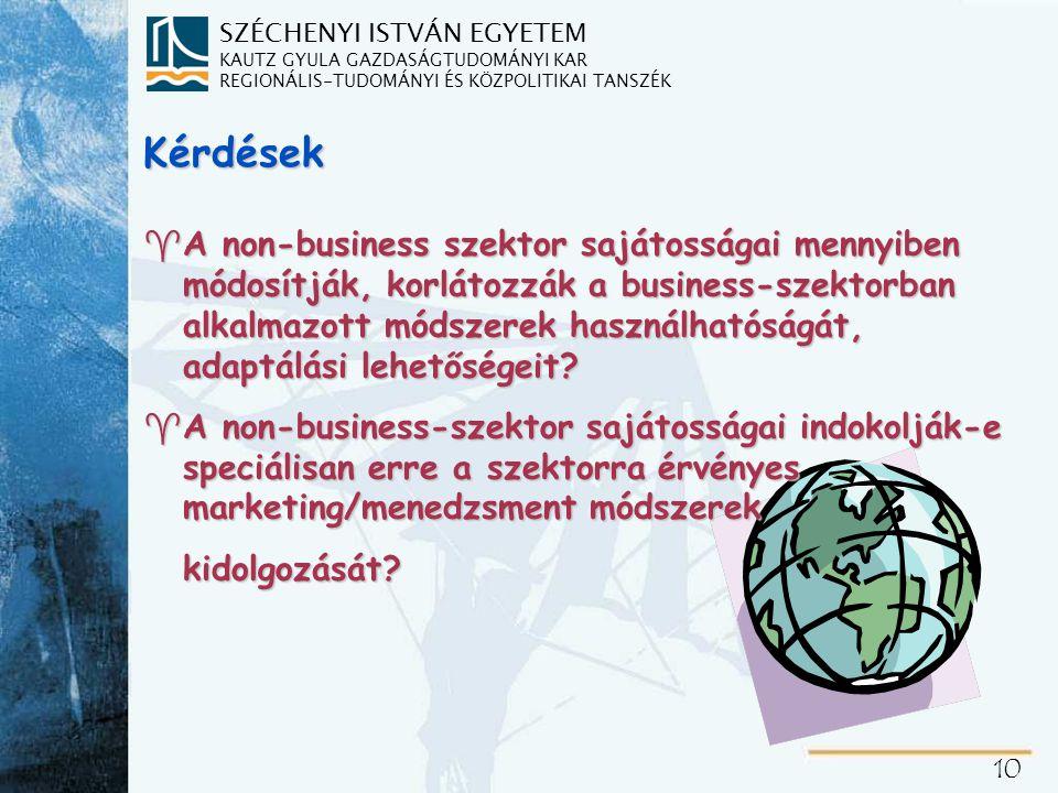 """""""Non-business szektor Közszolgáltatási szféra Költségvetési szektor"""