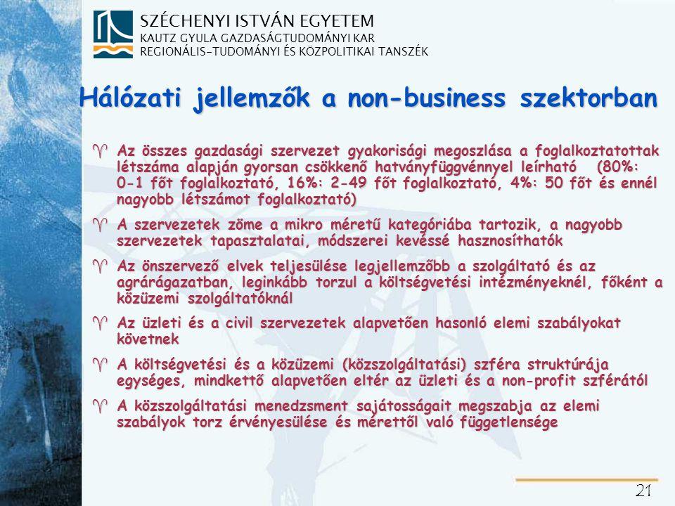 Non-business szervezetekre érvényes megállapítások