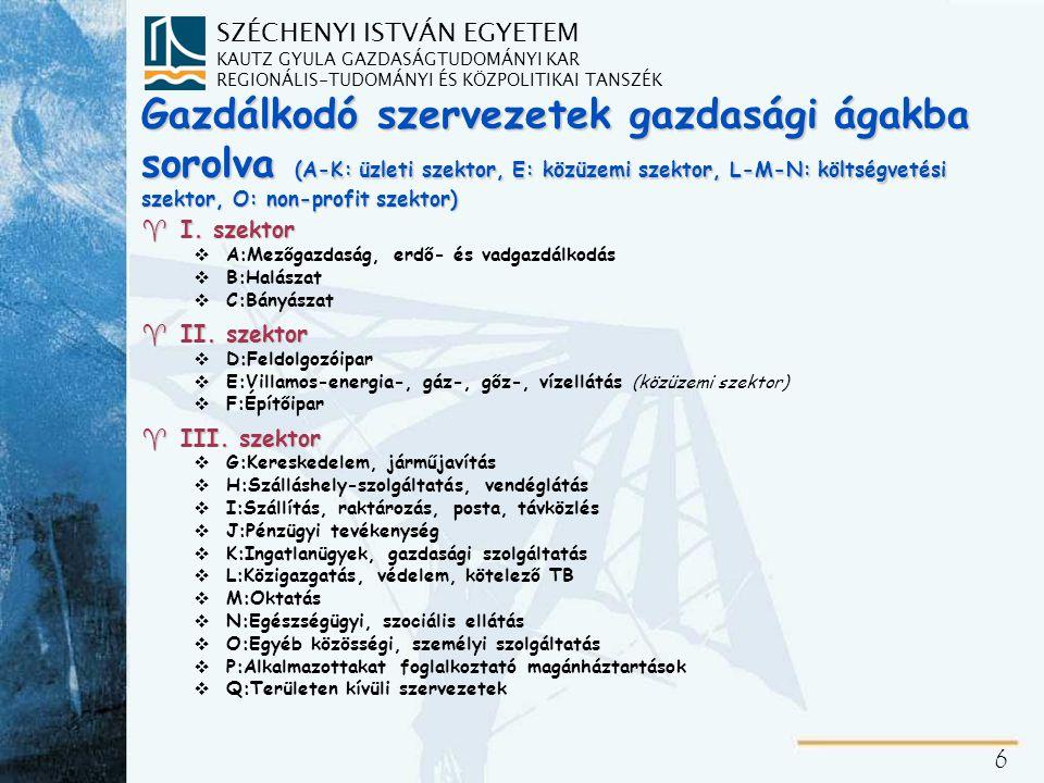 A társadalmi igényeket kielégítő szereplők csoportosítása (a szolgáltatás célja és az előállított javak jellege szerint)
