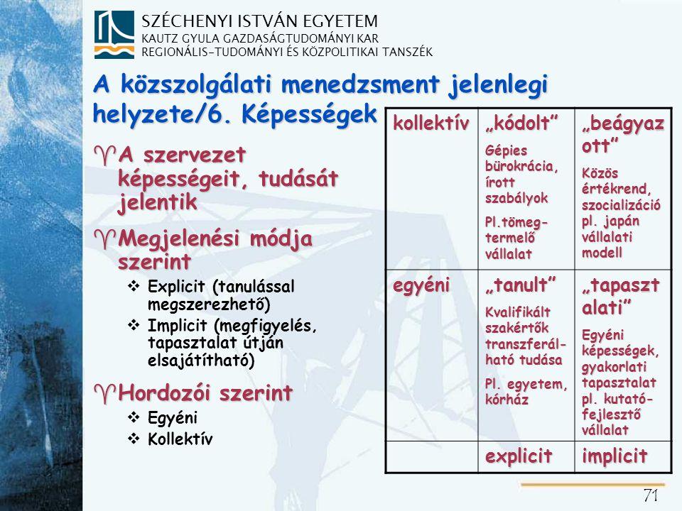 A közszolgálati menedzsment jelenlegi helyzete/7. Fő célok, alapértékek