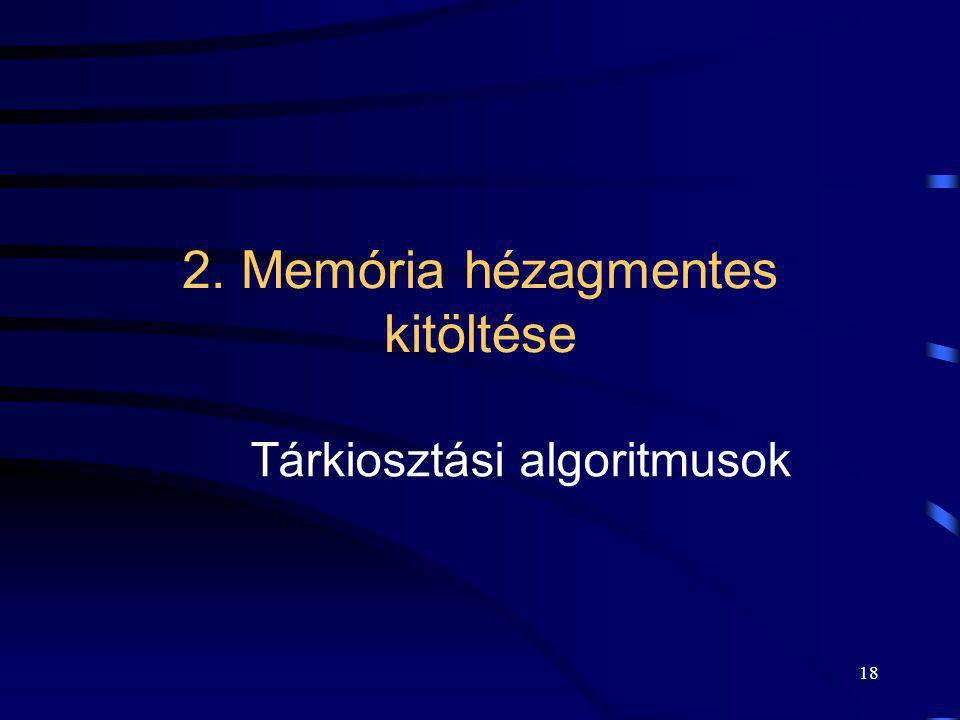 2. Memória hézagmentes kitöltése