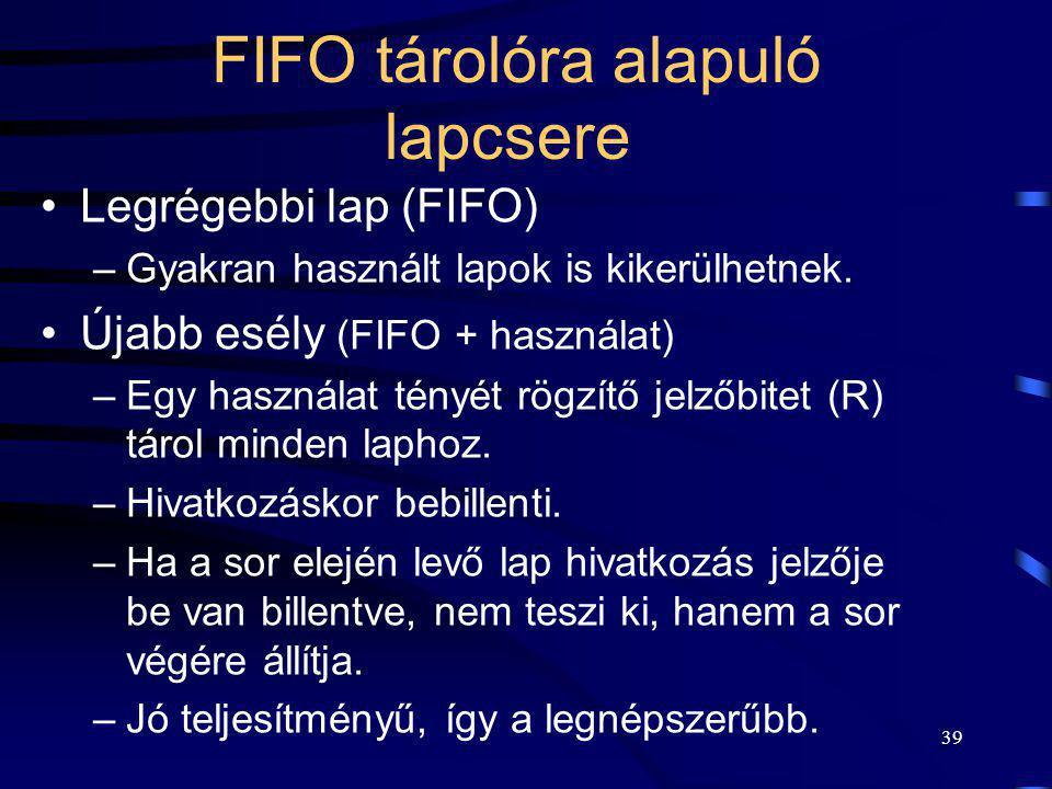 FIFO tárolóra alapuló lapcsere