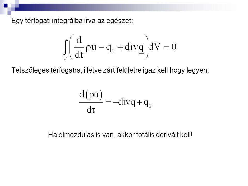 Ha elmozdulás is van, akkor totális derivált kell!