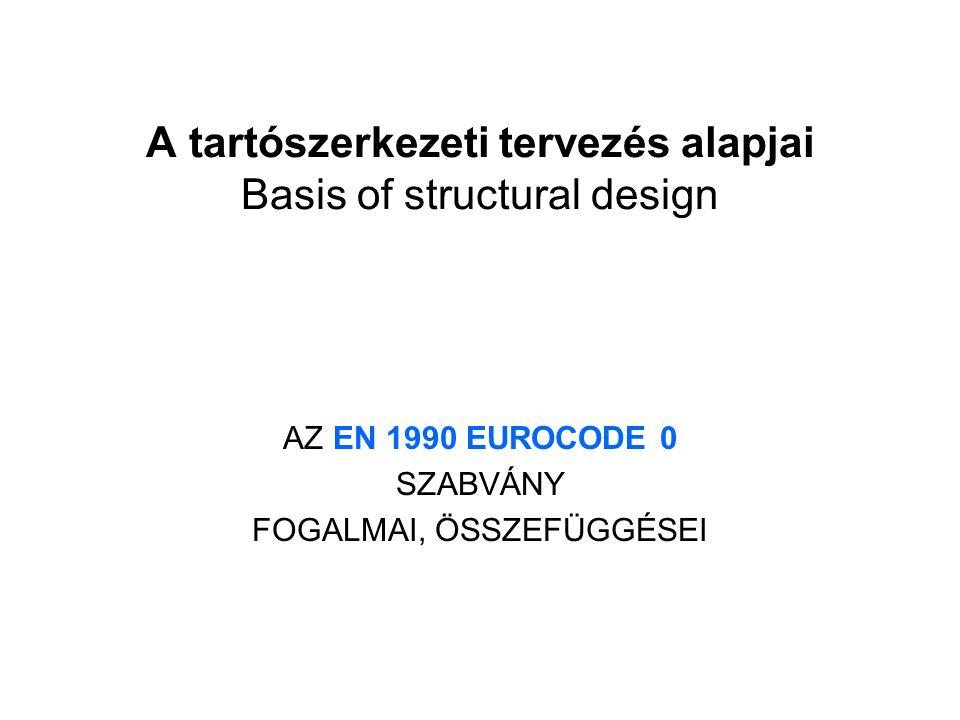 A tartószerkezeti tervezés alapjai Basis of structural design