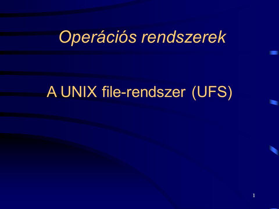 A UNIX file-rendszer (UFS)