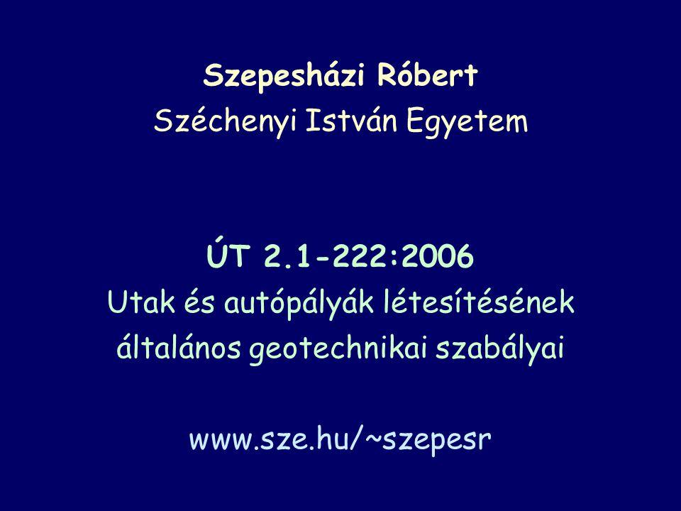 Szepesházi Róbert Széchenyi István Egyetem ÚT 2