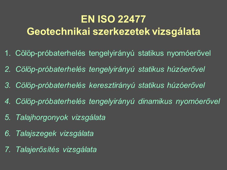 EN ISO 22477 Geotechnikai szerkezetek vizsgálata