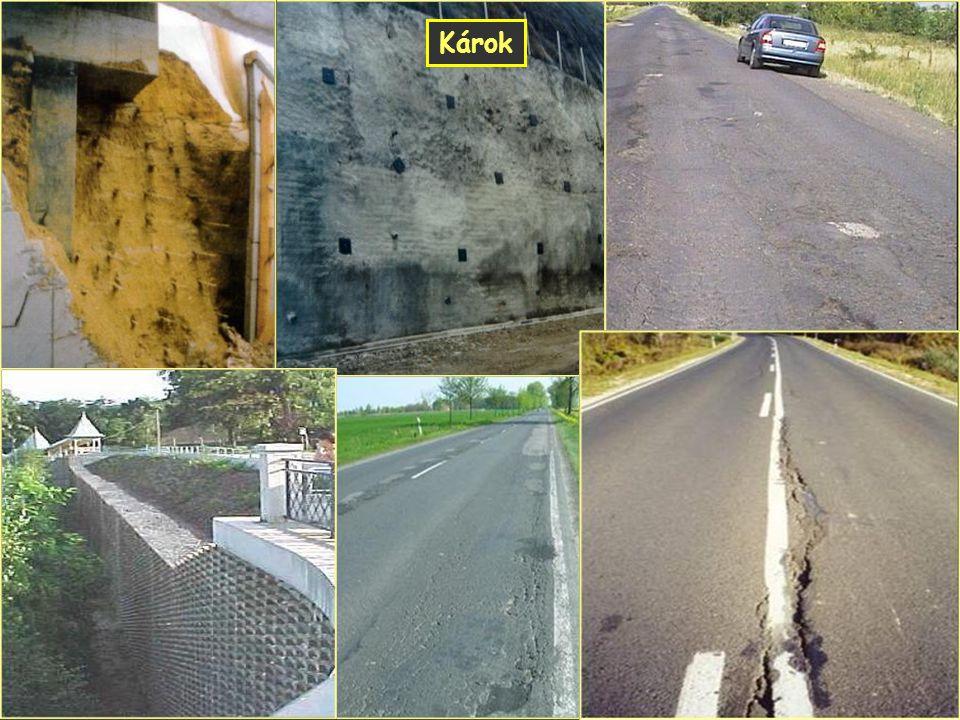 Károk Geotechnikai hibák