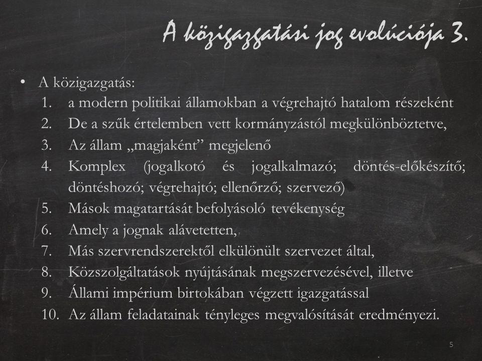 A közigazgatási jog evolúciója 3.
