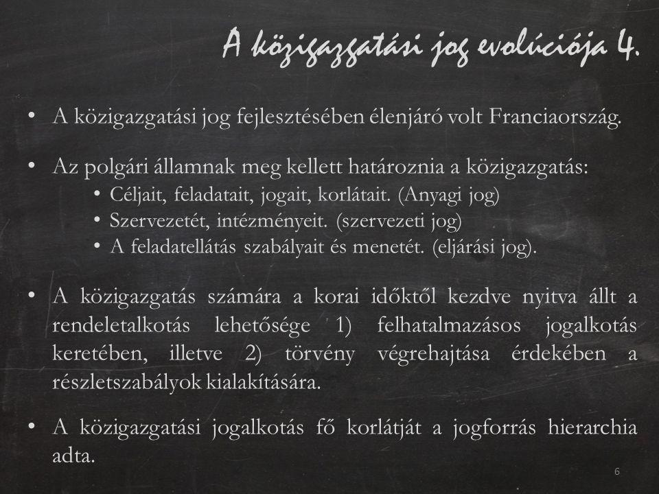 A közigazgatási jog evolúciója 4.