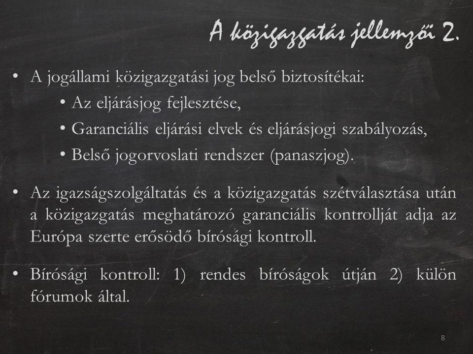 A közigazgatás jellemzői 2.