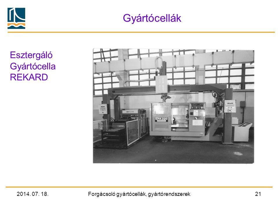 Forgácsoló gyártócellák, gyártórendszerek