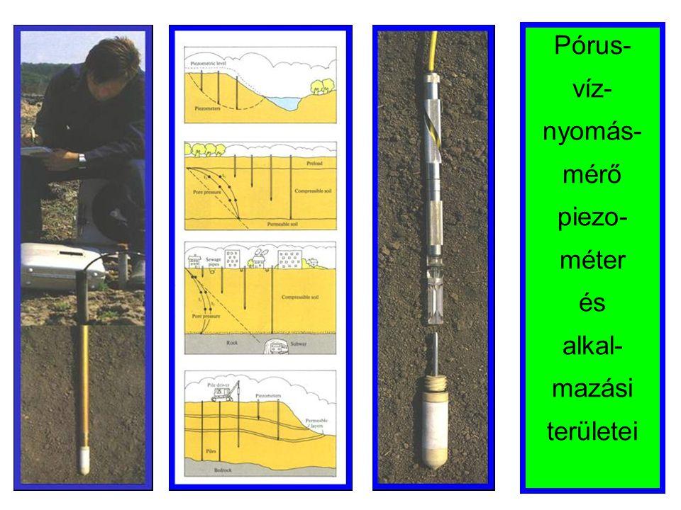 Pórus- víz-nyomás-mérő piezo-méter és alkal-mazási területei