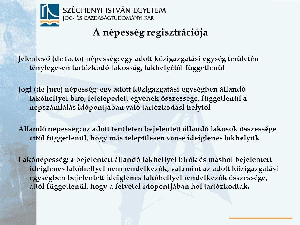 A népesség regisztrációja