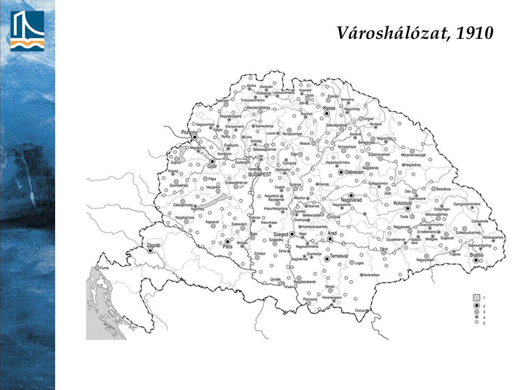 Városhálózat, 1910