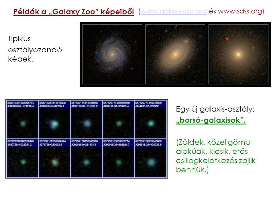 """Példák a """"Galaxy Zoo képeiből"""