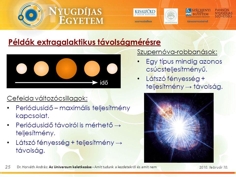 Példák extragalaktikus távolságmérésre