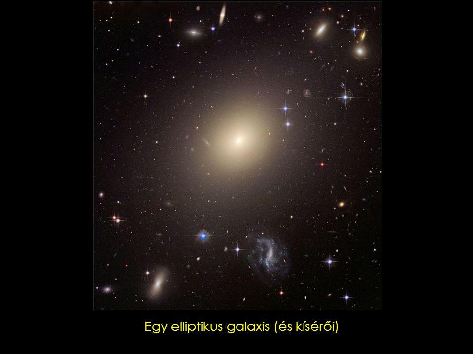 Egy elliptikus galaxis (és kísérői)