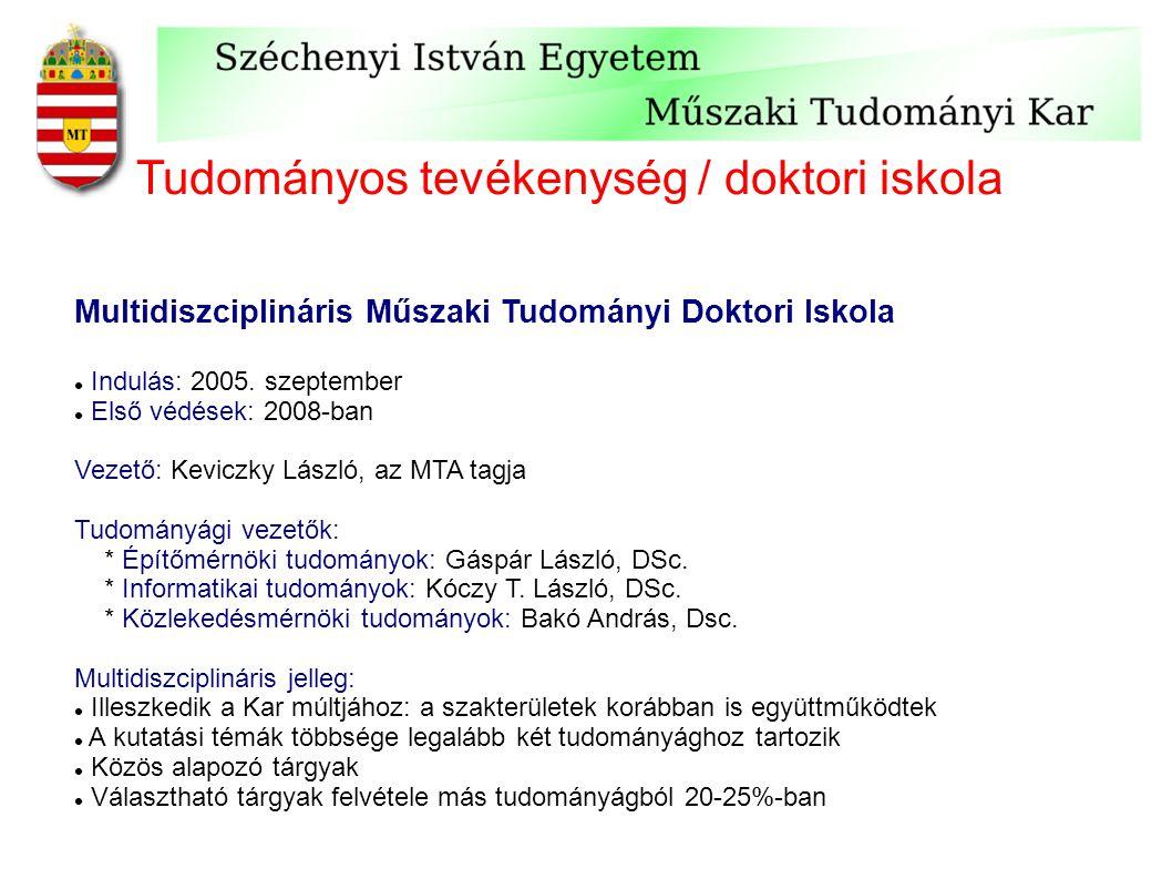 Tudományos tevékenység / doktori iskola