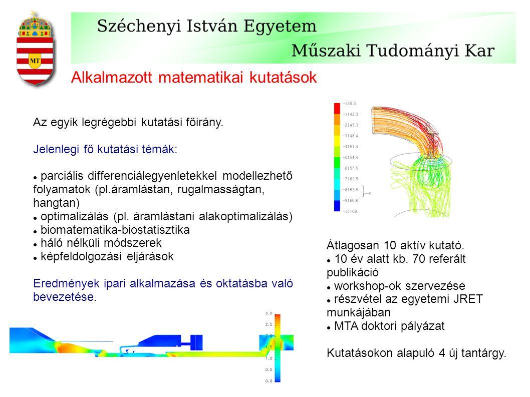 Alkalmazott matematikai kutatások