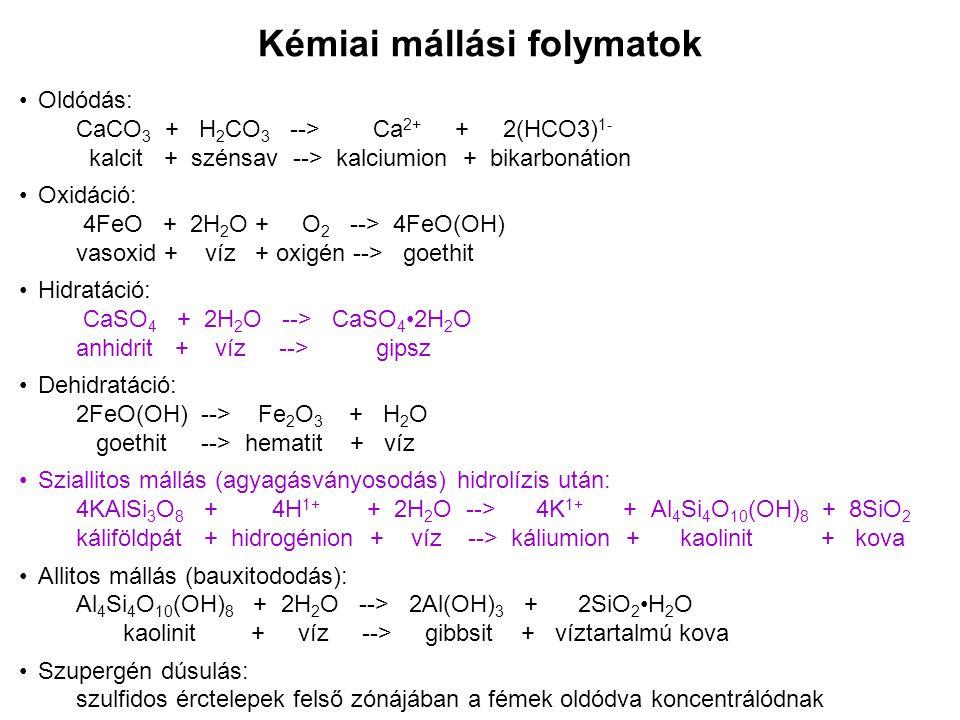 Kémiai mállási folymatok