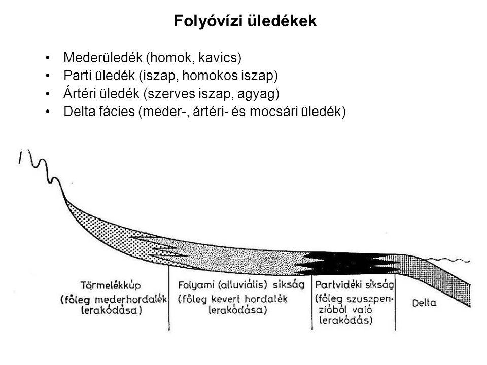 Folyóvízi üledékek Mederüledék (homok, kavics)