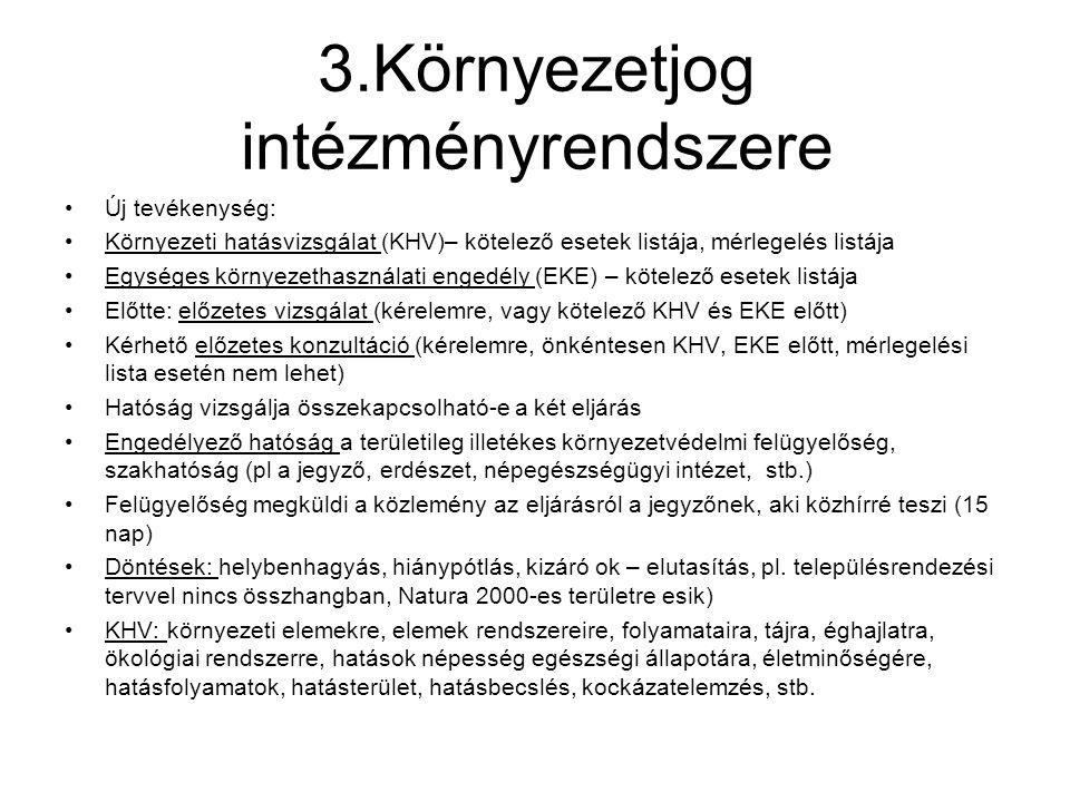 3.Környezetjog intézményrendszere