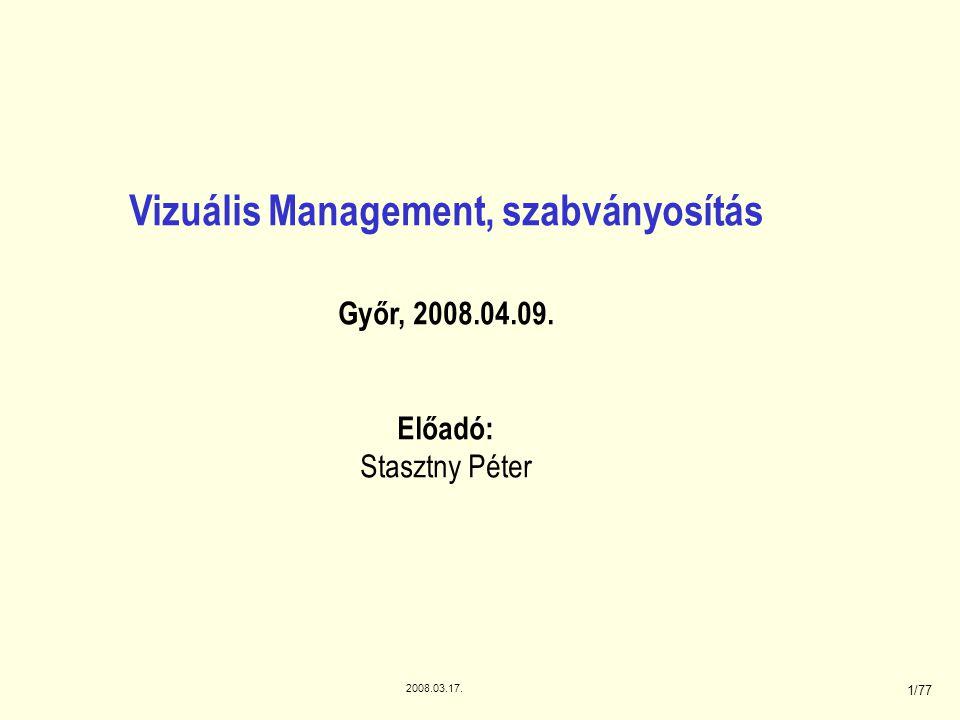 Vizuális Management, szabványosítás