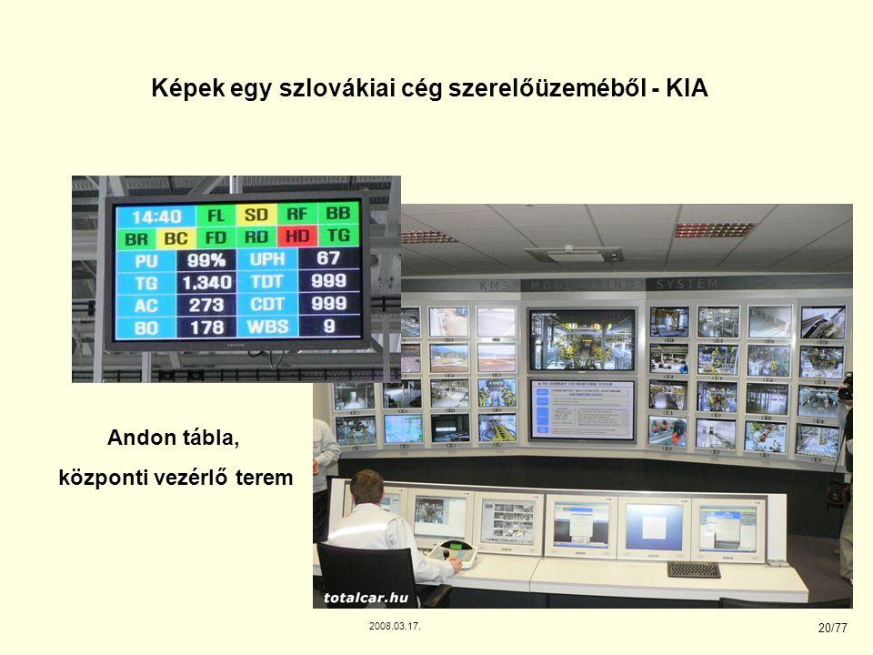 Képek egy szlovákiai cég szerelőüzeméből - KIA központi vezérlő terem