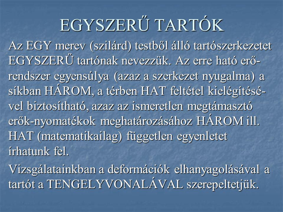 EGYSZERŰ TARTÓK