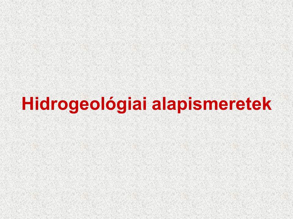 Hidrogeológiai alapismeretek