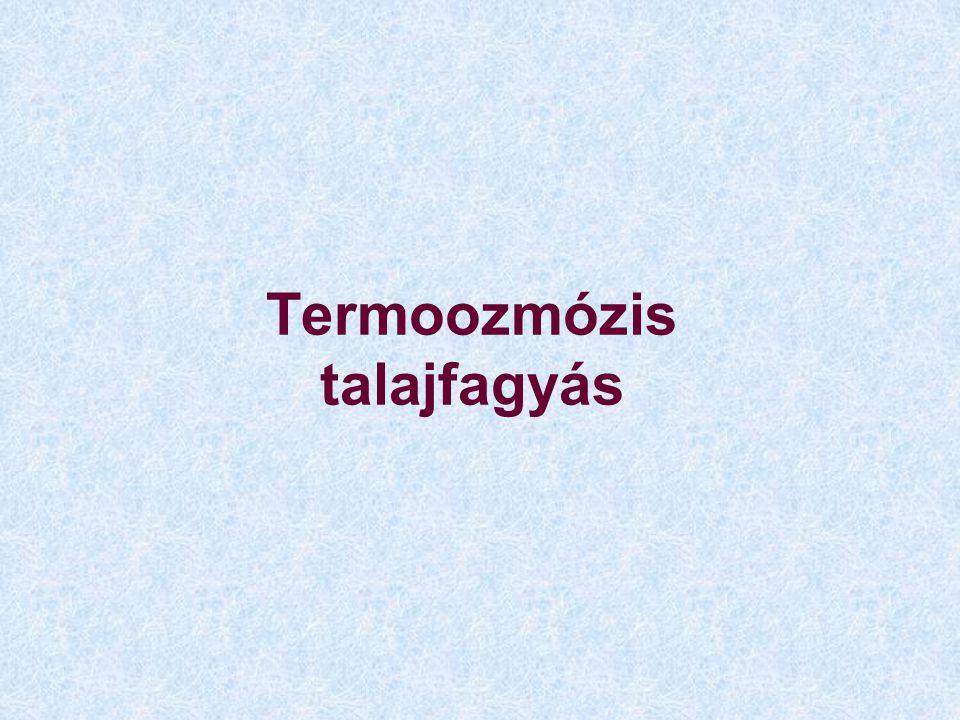 Termoozmózis talajfagyás
