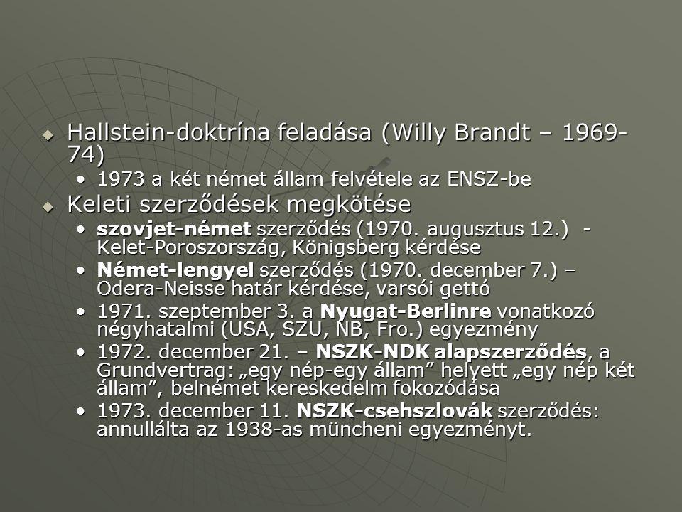 Hallstein-doktrína feladása (Willy Brandt – 1969-74)