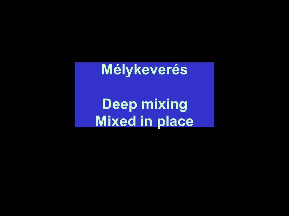 Mélykeverés Deep mixing Mixed in place