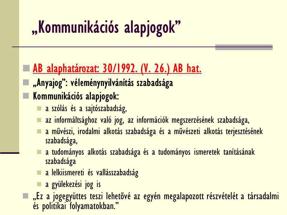 """""""Kommunikációs alapjogok"""