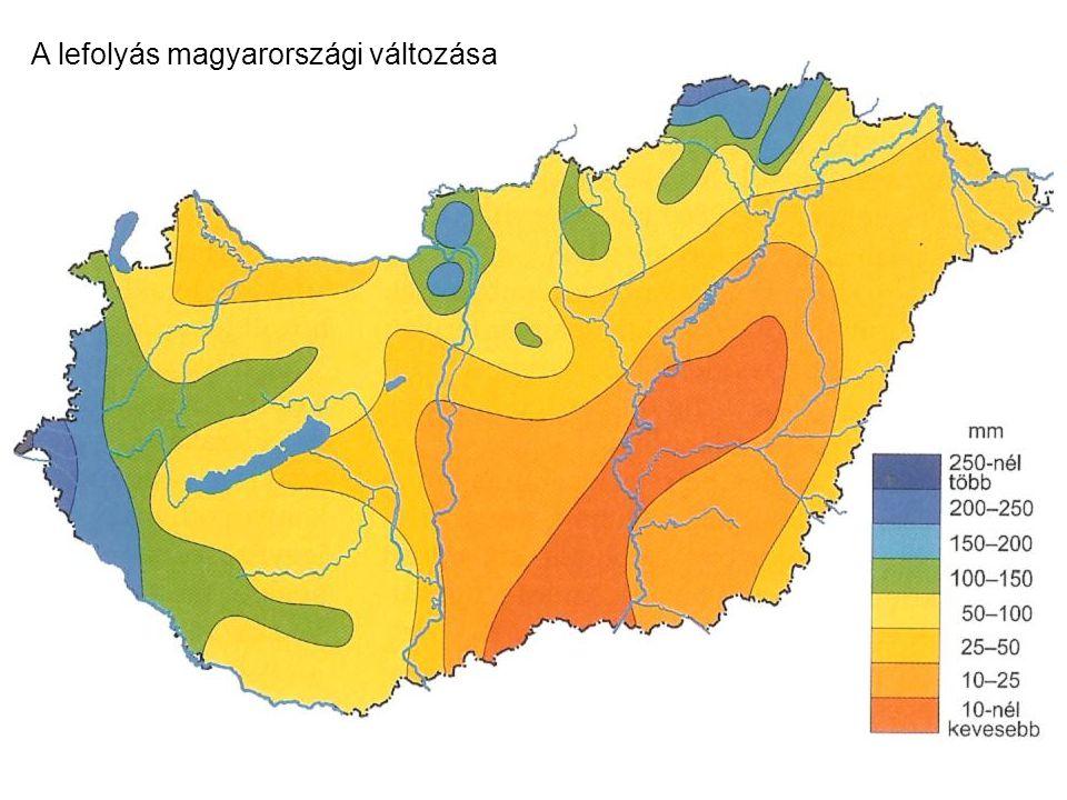 A lefolyás magyarországi változása
