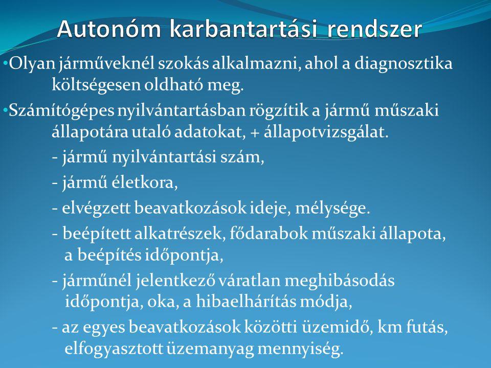 Autonóm karbantartási rendszer