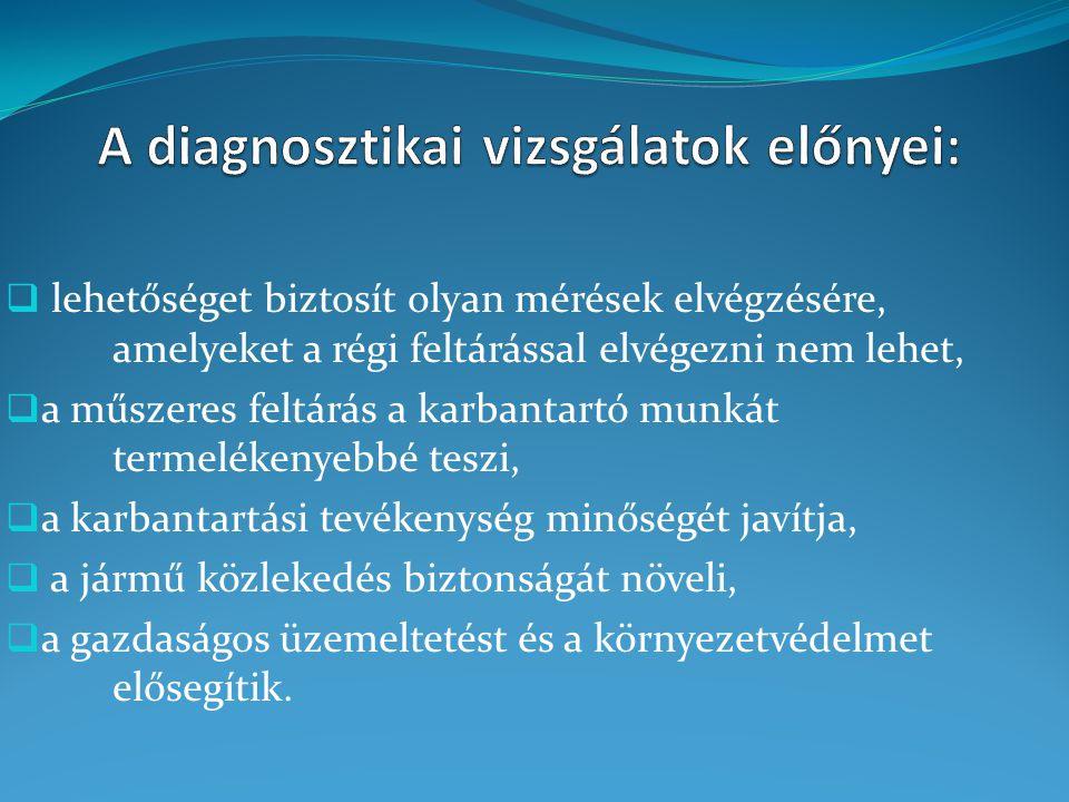 A diagnosztikai vizsgálatok előnyei: