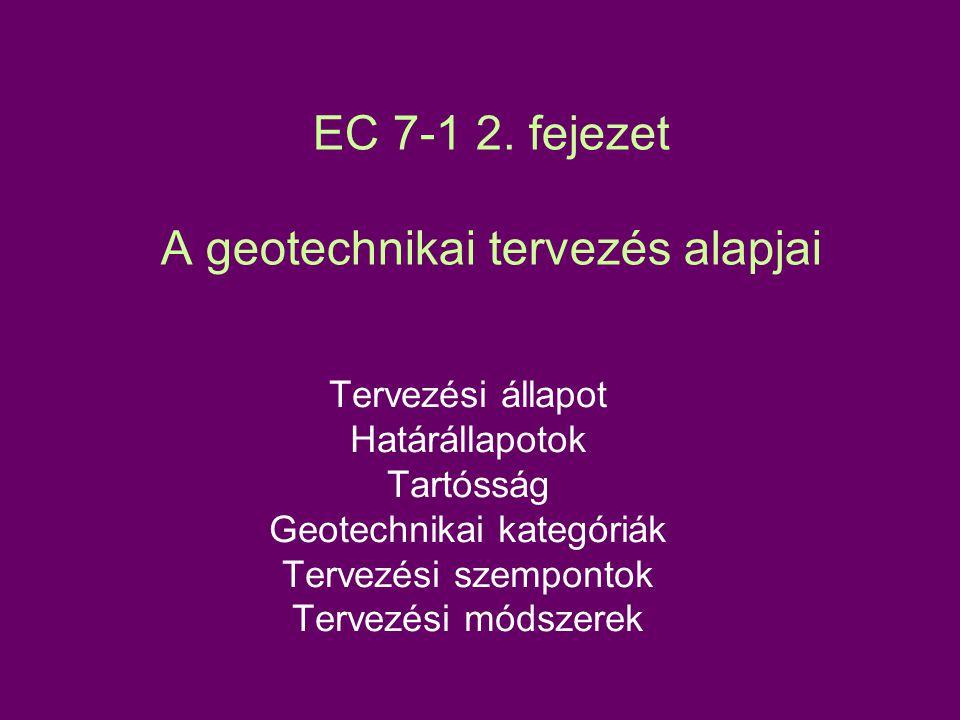 EC 7-1 2. fejezet A geotechnikai tervezés alapjai