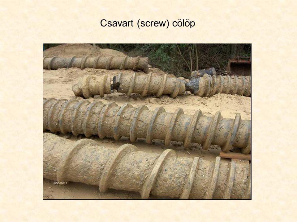 Csavart (screw) cölöp