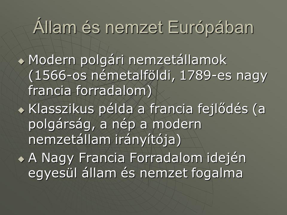 Állam és nemzet Európában