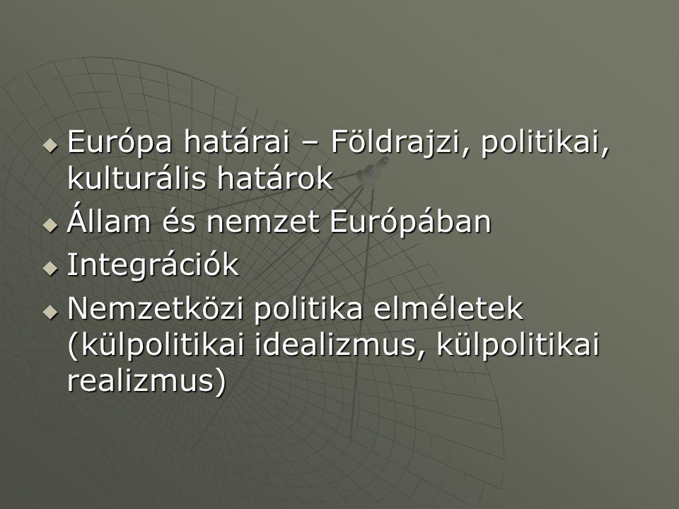 Európa határai – Földrajzi, politikai, kulturális határok