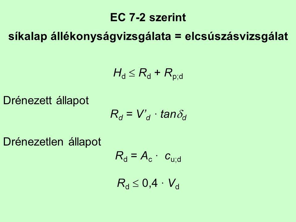 EC 7-2 szerint síkalap állékonyságvizsgálata = elcsúszásvizsgálat