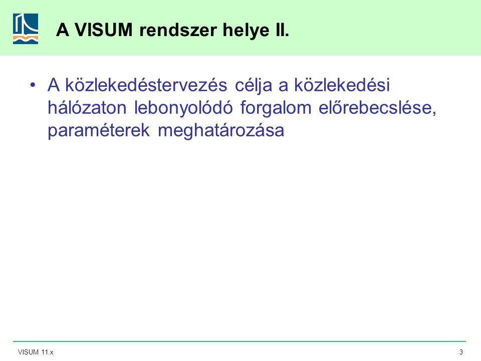A VISUM rendszer helye II.