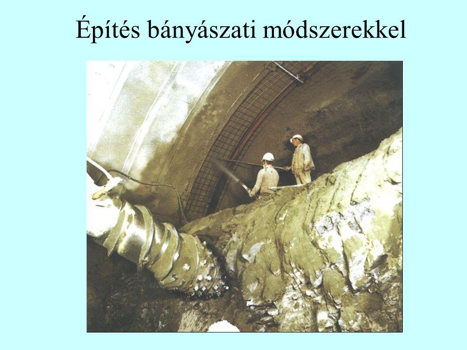 Építés bányászati módszerekkel