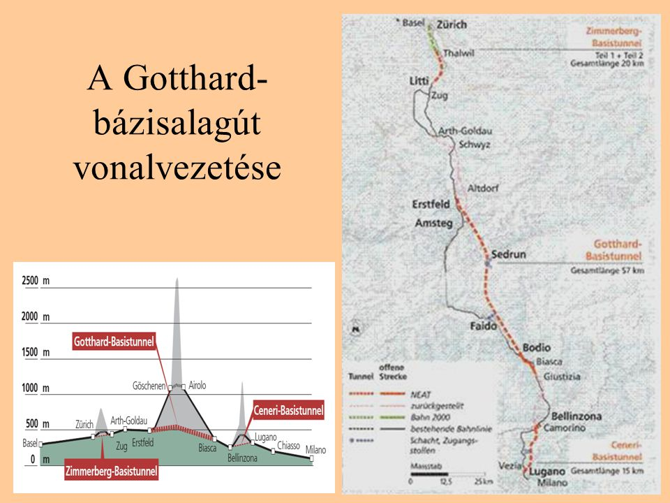 A Gotthard-bázisalagút vonalvezetése