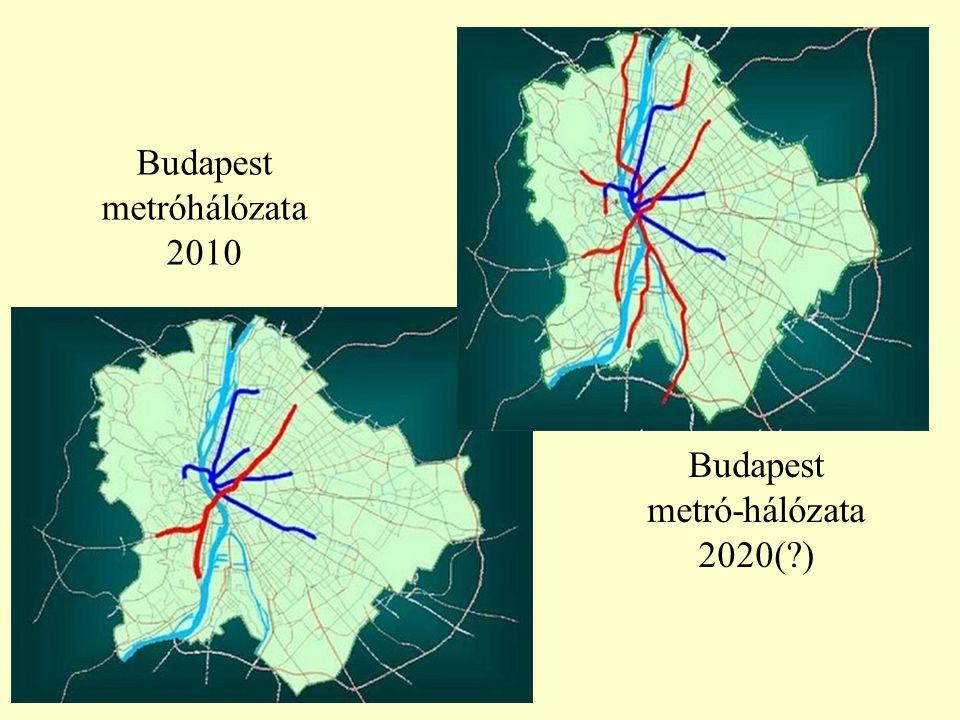 Budapest metróhálózata 2010